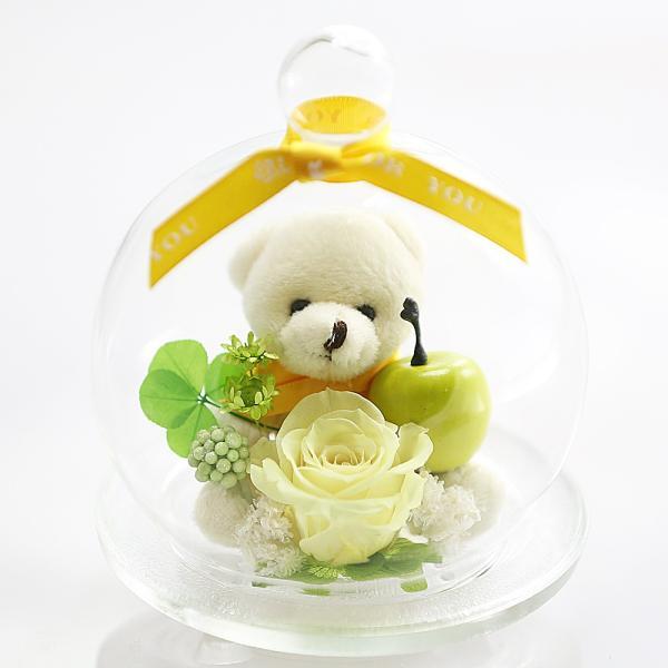 母の日 ベアアップル プリザーブドフラワー 誕生日プレゼント バラ 退職祝い 結婚記念日 還暦祝い プレゼント 女性 ギフト|a4s|13