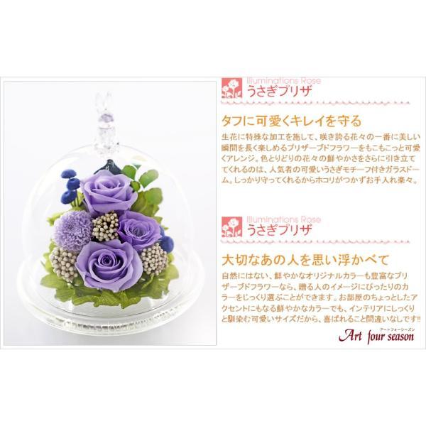 うさぎプリザ 結婚記念日 プレゼント 退職祝い プリザーブドフラワー 誕生日プレゼント 還暦祝い 女性 バラ 結婚祝い 贈り物|a4s|09