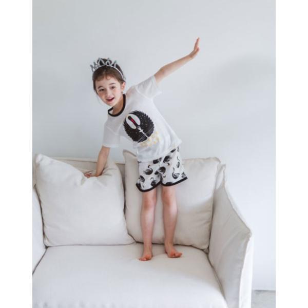 キッズパジャマ 韓国子供服 子供服 ユニセックス ルームウェア ブラッスワン 100cm 110cm 120cm 130cm 140cm|aaahouse|03