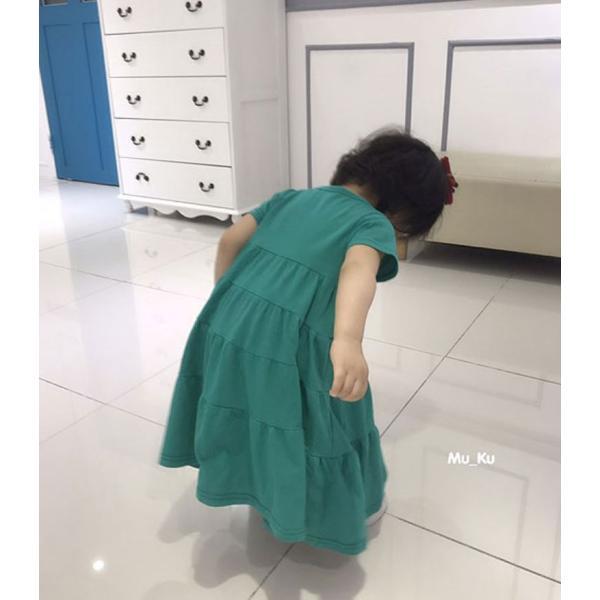 即納商品 韓国子供服 フリルワンピース Aラインロングワンピース キッズワンピース 90cm/100cm/110cm/120cm/130cm|aaahouse|03