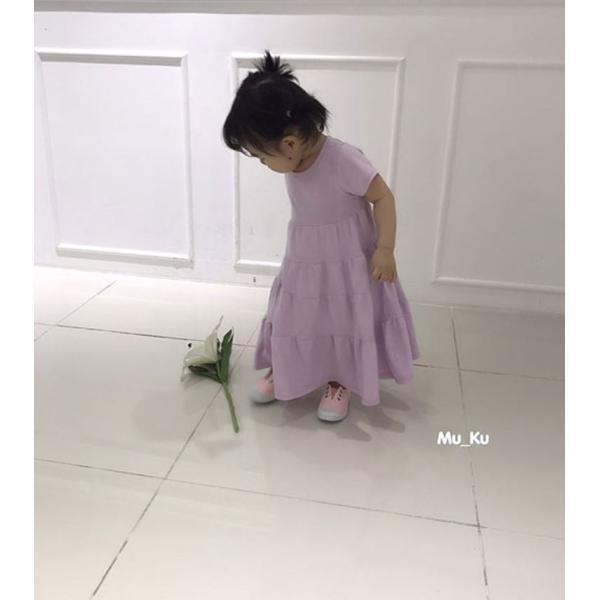 即納商品 韓国子供服 フリルワンピース Aラインロングワンピース キッズワンピース 90cm/100cm/110cm/120cm/130cm|aaahouse|08