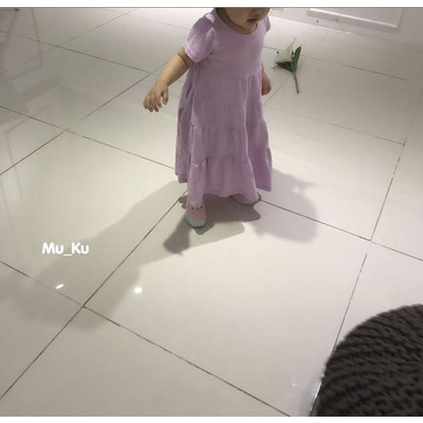 即納商品 韓国子供服 フリルワンピース Aラインロングワンピース キッズワンピース 90cm/100cm/110cm/120cm/130cm|aaahouse|09