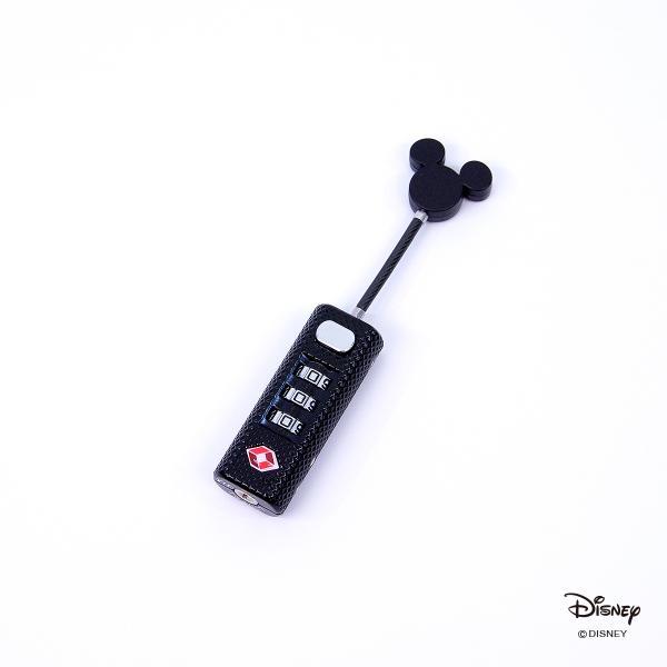 ストレート南京錠 ディズニー ミッキー 旅行 便利 TSA リュック ジッパー ワイヤーロック カギ シフレ ACC7093-DN