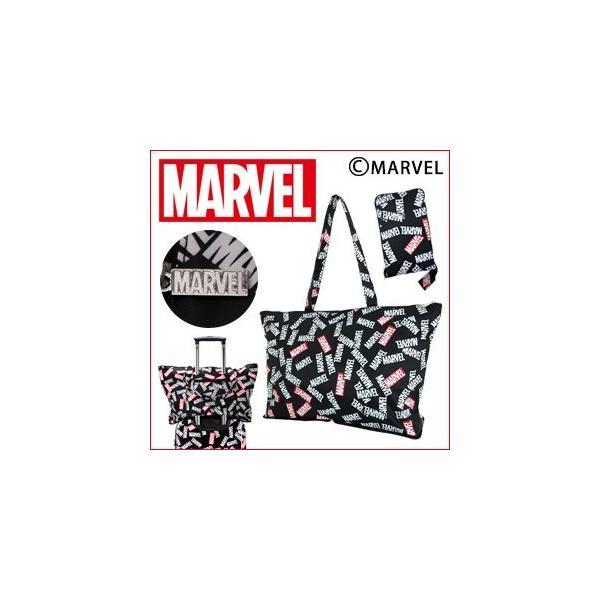 MARVEL マーベル 折りたたみトートバッグ キャリーに通して持ち運びに便利 キャリーオンバッグ HAPI+TAS ハピタス H0001