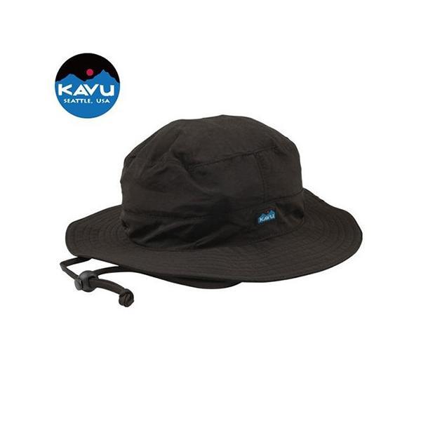 カブー KAVU シンセティックストラップバケットハット ブラック