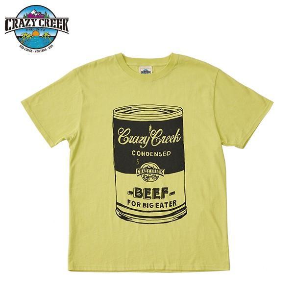 クレイジークリーク CRAZY CREEK メンズ FATCAN Tシャツ ゴールド aandfshop