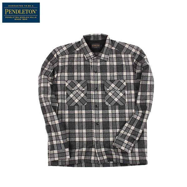 ペンドルトン PENDLETON ボードシャツ ジャパンフィット AA417 グレイ/アイボリープレイド 31967  ウール製品 日本正規商品 SALE|aandfshop