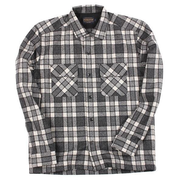 ペンドルトン PENDLETON ボードシャツ ジャパンフィット AA417 グレイ/アイボリープレイド 31967  ウール製品 日本正規商品 SALE|aandfshop|02