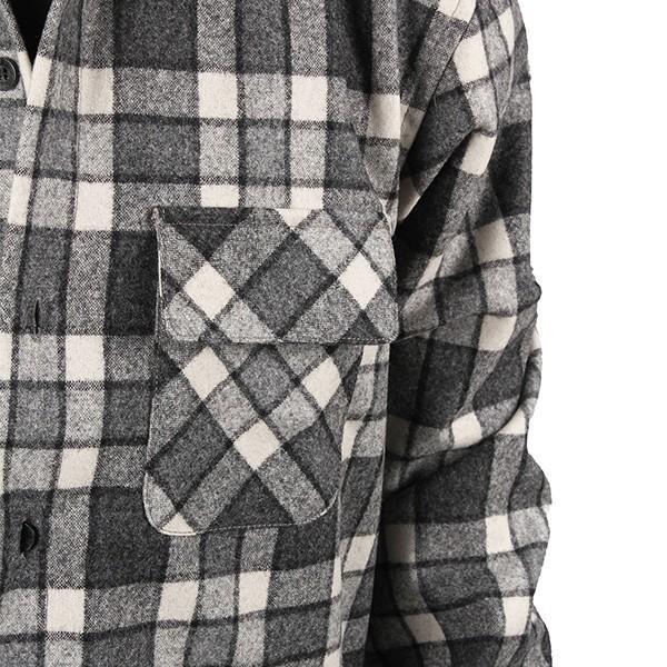 ペンドルトン PENDLETON ボードシャツ ジャパンフィット AA417 グレイ/アイボリープレイド 31967  ウール製品 日本正規商品 SALE|aandfshop|11