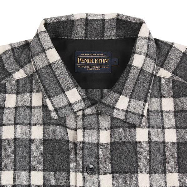 ペンドルトン PENDLETON ボードシャツ ジャパンフィット AA417 グレイ/アイボリープレイド 31967  ウール製品 日本正規商品 SALE|aandfshop|03