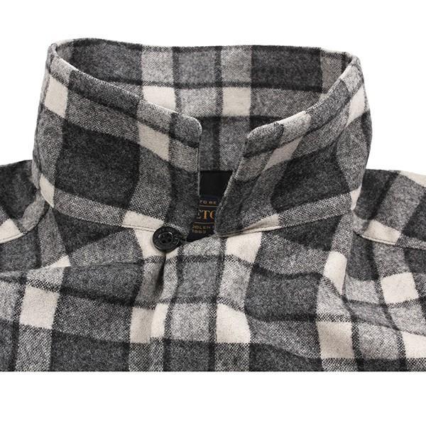 ペンドルトン PENDLETON ボードシャツ ジャパンフィット AA417 グレイ/アイボリープレイド 31967  ウール製品 日本正規商品 SALE|aandfshop|04