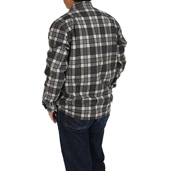 ペンドルトン PENDLETON ボードシャツ ジャパンフィット AA417 グレイ/アイボリープレイド 31967  ウール製品 日本正規商品 SALE|aandfshop|08