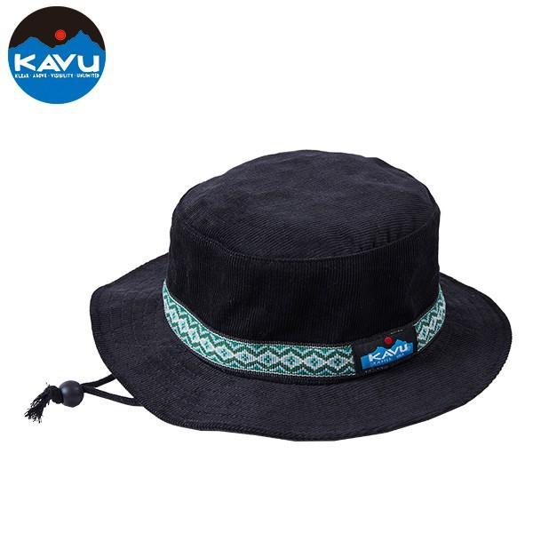 KAVU カブー コーデュロイバケットハット ブラック