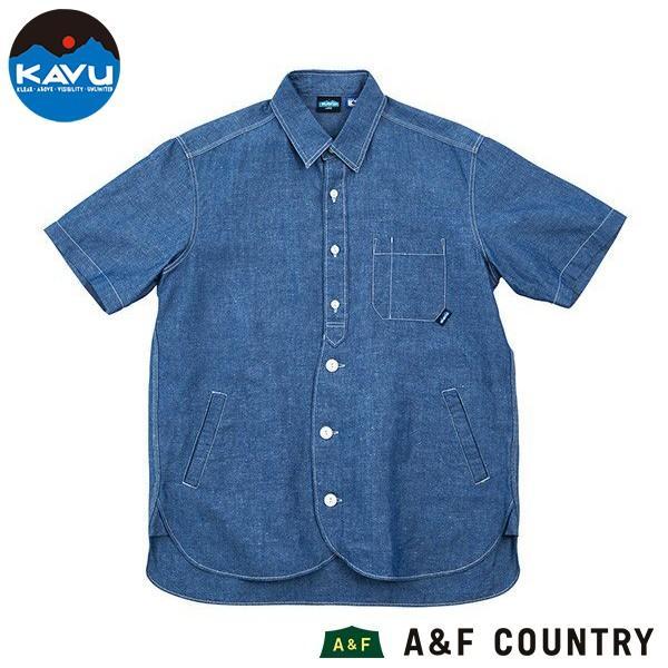 カブー KAVU メンズ ショートスリーブループシャツ コットンリネン ネイビー