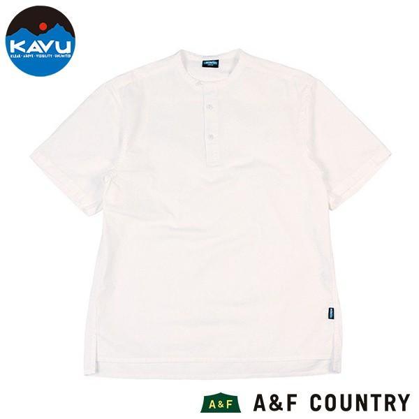 カブー KAVU ROSS シャツ ホワイト A&F直営店別注モデル|aandfshop