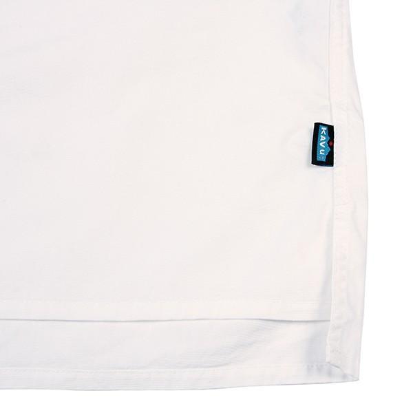カブー KAVU ROSS シャツ ホワイト A&F直営店別注モデル|aandfshop|04
