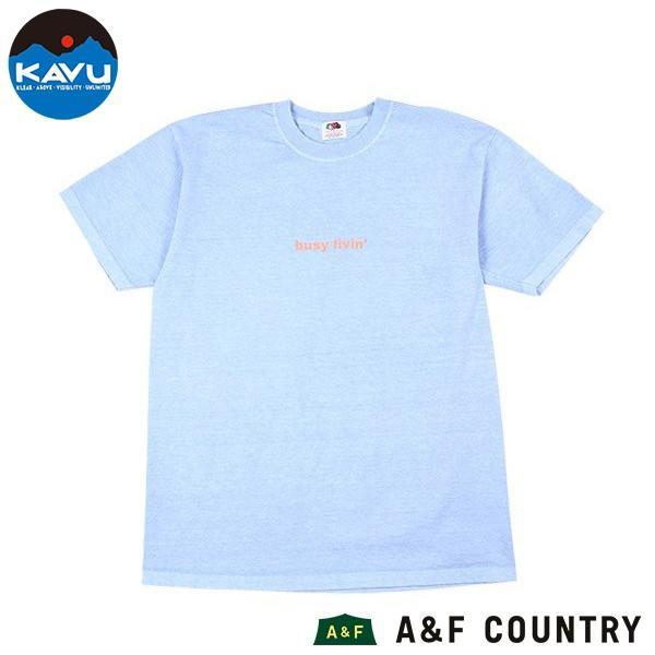 カブー KAVU メンズ ショートスリーブ ビジーリビング Tシャツ サックス