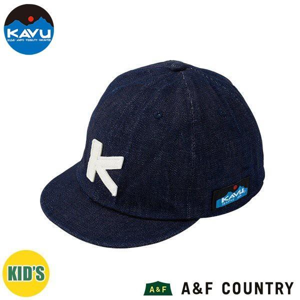 d3173631b7949 カブー KAVU キッズ ベースボールキャップ デニム 帽子 キャップ 子供用の画像