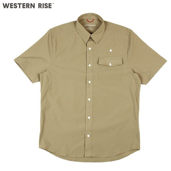 ウエスタンライズ WESTERN RISE Teckショートスリーブシャツ タン A&F直営店別注モデル|aandfshop
