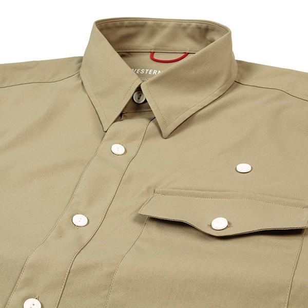 ウエスタンライズ WESTERN RISE Teckショートスリーブシャツ タン A&F直営店別注モデル|aandfshop|03
