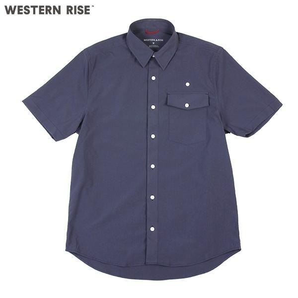 ウエスタンライズ WESTERN RISE Teckショートスリーブシャツ ブルー A&F直営店別注モデル|aandfshop