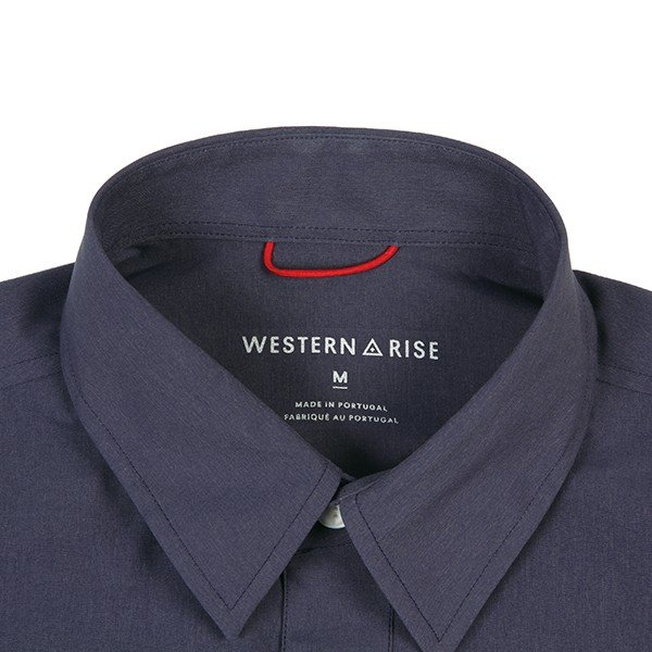 ウエスタンライズ WESTERN RISE Teckショートスリーブシャツ ブルー A&F直営店別注モデル|aandfshop|03