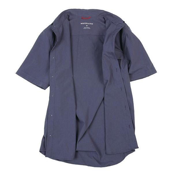 ウエスタンライズ WESTERN RISE Teckショートスリーブシャツ ブルー A&F直営店別注モデル|aandfshop|07