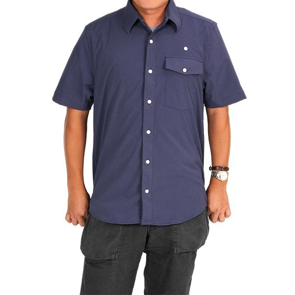ウエスタンライズ WESTERN RISE Teckショートスリーブシャツ ブルー A&F直営店別注モデル|aandfshop|08