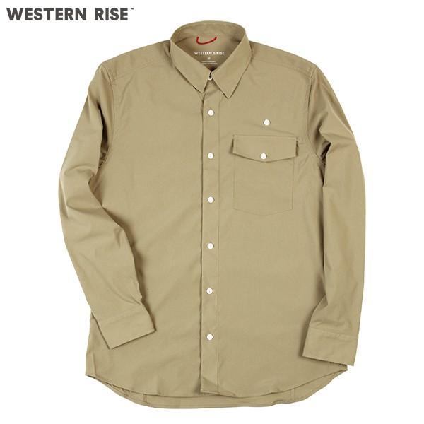 ウエスタンライズ WESTERN RISE Teckロングスリーブシャツ タン A&F直営店別注モデル|aandfshop