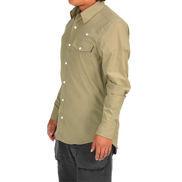 ウエスタンライズ WESTERN RISE Teckロングスリーブシャツ タン A&F直営店別注モデル|aandfshop|09