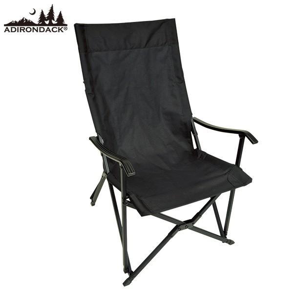 アディロンダック Adirondack キャンパーズチェア ブラック 送料無料 エイアンドエフオリジナル商品|aandfshop