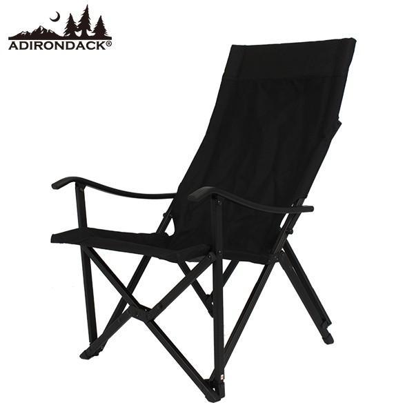 アディロンダック Adirondack リラックス キャンパーズチェア ブラック 送料無料 エイアンドエフオリジナル商品|aandfshop