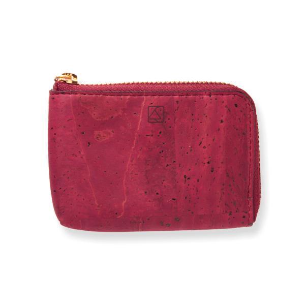 コインケース 赤 コルク製 ビーガン 一年保証|aasha-shop