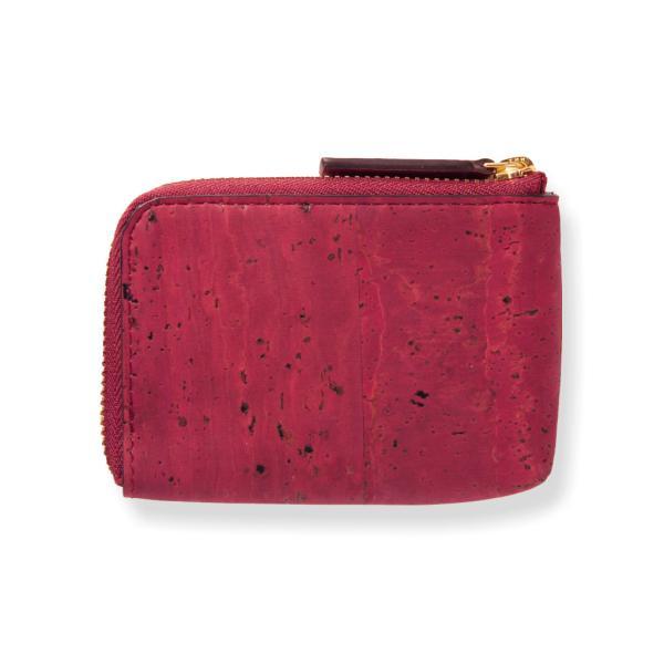 コインケース 赤 コルク製 ビーガン 一年保証|aasha-shop|03