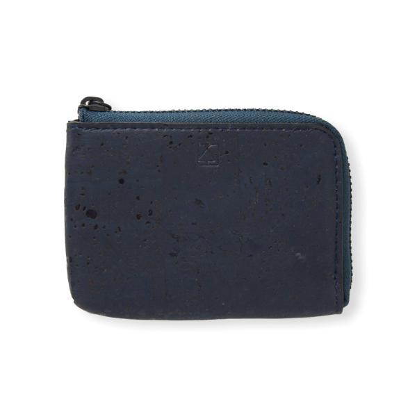 コインケース 青 コルク製 ビーガン 一年保証|aasha-shop|02