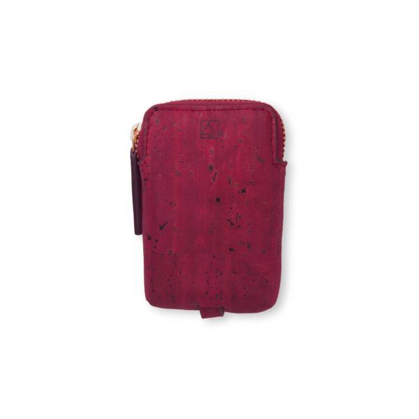 キーケース 赤 コルク製 ビーガン 一年保証|aasha-shop