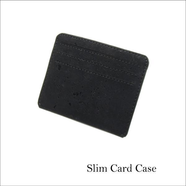 カードケース 黒 コルク製 ビーガン 一年保証 aasha-shop
