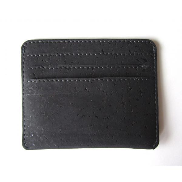 カードケース 黒 コルク製 ビーガン 一年保証 aasha-shop 03