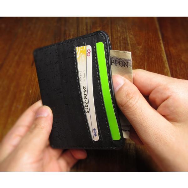 カードケース 黒 コルク製 ビーガン 一年保証 aasha-shop 04