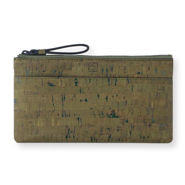 スリムポーチ財布 Olive & Terrain  コルク製  一年保証|aasha-shop