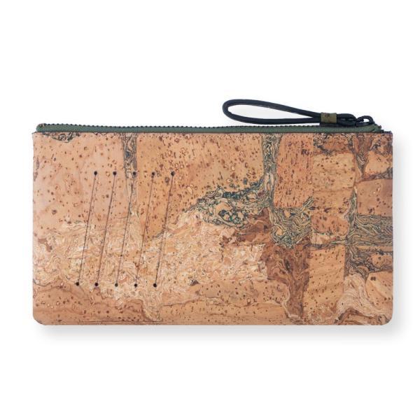 スリムポーチ財布 Olive & Terrain  コルク製  一年保証|aasha-shop|03