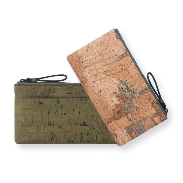 スリムポーチ財布 Olive & Terrain  コルク製  一年保証|aasha-shop|04