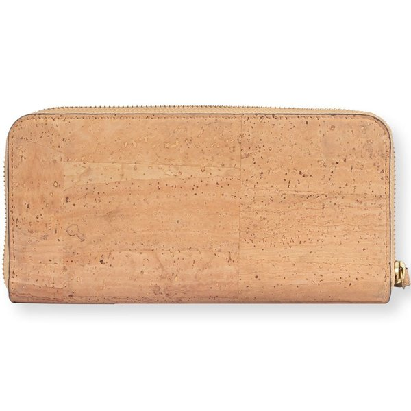 ラウンドファスナー 長財布 ナチュラルカラー コルク製 ビーガン 一年保証|aasha-shop|04