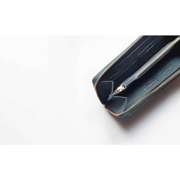 ラウンドファスナー 長財布 青 コルク製 ビーガン  一年保証|aasha-shop|08