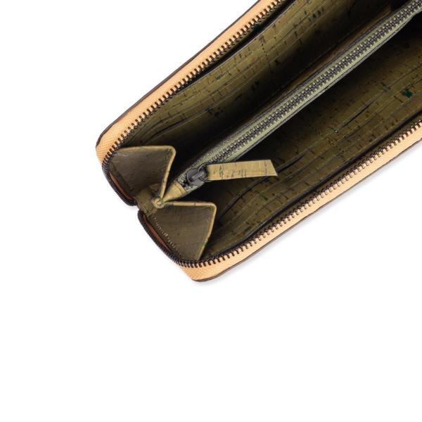 ラウンドファスナー 長財布 Terrain コルク製 ビーガン 一年保証|aasha-shop|04