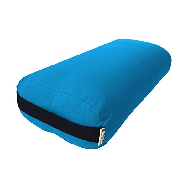 BREEZE Inflatable 9 x 26 inch Round Yoga Bolster Wine