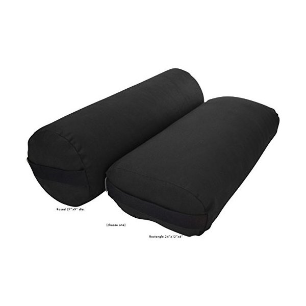 ヨガBean Products Yoga Bolster - Cotton Round - Black|abareusagi-usa|02