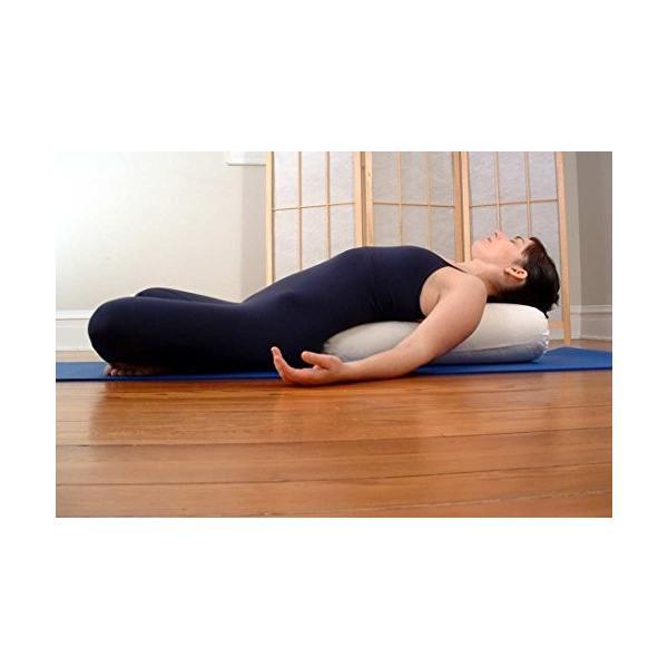 ヨガBean Products Yoga Bolster - Cotton Round - Black|abareusagi-usa|05