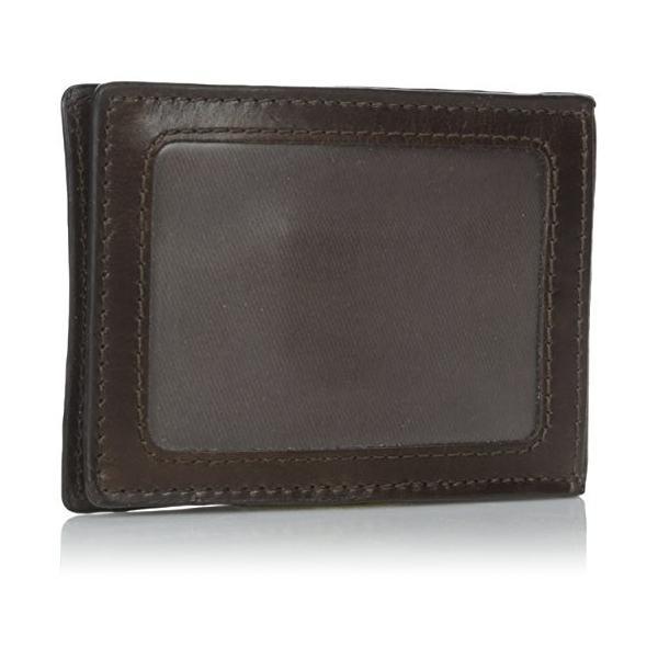 ML3684 One Size Fossil Men's Money Clip Bifold Wallet, Dark Brown, One Size|abareusagi-usa|03