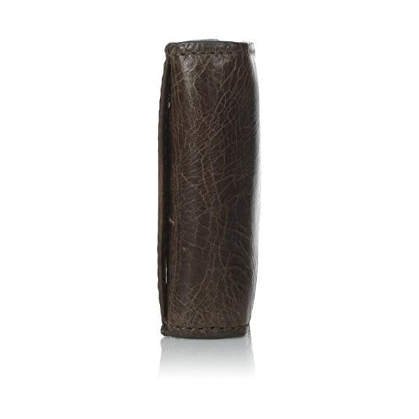 ML3684 One Size Fossil Men's Money Clip Bifold Wallet, Dark Brown, One Size|abareusagi-usa|04